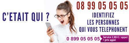 Identifiez les personnes qui vous téléphonent appelez le 08 99 05 05 05